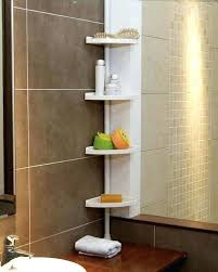 Telescopic Bathroom Shelves Bathroom Shower Racks White 4 Tier Adjustable Cm Telescopic Corner