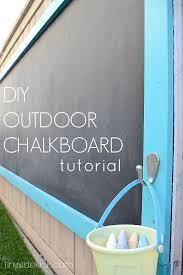 How To Make Backyard Jenga by How To Make An Outdoor Chalkboard Outdoor Chalkboard Fun