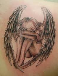 amazing realistic angel tattoo on back before u0026 after