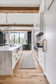 modern farmhouse kitchen black cabinets black and white modern farmhouse kitchen home bunch