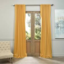 Curtain Pair Exclusive Fabrics Furnishings Semi Opaque Marigold Blackout
