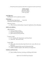free resume templates for high students with no work experience work experience resume template no experience resume exles