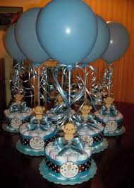 Diaper Cake Centerpieces by Monkey Baby Shower Diapers Centerpiece With Balloon Green Brown
