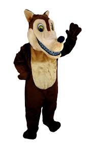 Halloween Mascot Costumes Buy Brown Wolf Mascot Wild Dog Coyote Costume Mask T0106