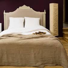 plaid en cachemire plaid gaufré en lin lavé aspect froissé sable blanc plaids