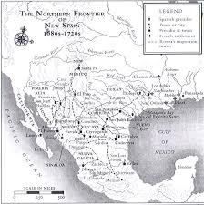 Map Of New Spain by Vanderpool Texas