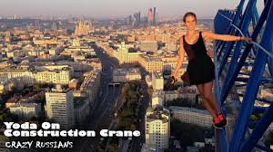 yoda on construction crane crazy selfie youtube