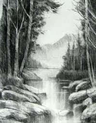 pencil art gallery simple pencil drawings of landscapes pencil