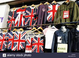 British Flag Shirts Camden Market London T Shirts Stock Photos U0026 Camden Market London