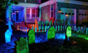 decorative outside lights diy outdoor halloween decorations