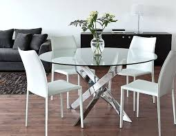 Retro Dining Room Tables by Dining Table Rovigo Large Glass Chrome Dining Room Table And 4
