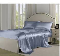 soft sheets 4pcs silky satin luxurious soft sheets and pillowcase set