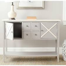 White Dining Room Buffet Safavieh Adrienne Gray And White Buffet With Storage Amh6601a
