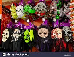 halloween masks on sale in tesco supermarket uk stock photo