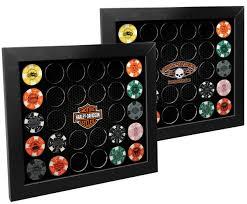 harley davidson 2 in 1 poker chip collector u0027s frame 6925d