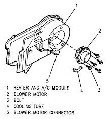 location of blower motor resistor on a 99 pontiac fixya