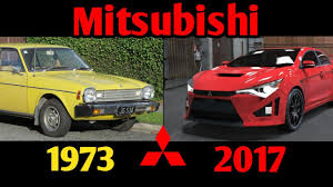 mitsubishi evolution 2017 mitsubishi lancer evolution 1973 2017 youtube
