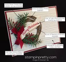 holiday wreath christmas card idea stampin u0027 pretty