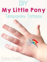 temporary my little pony tattoos cutesy crafts