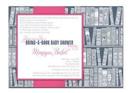 bring a book baby shower invitation baby navy and pink