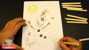 olaf frozen coloring pages draw olaf frozen coloring