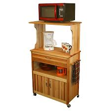 catskill microwave cart open shelf closed cabinet