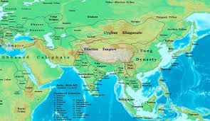 Asia Map With Capitals by Pala Empire Wikipedia