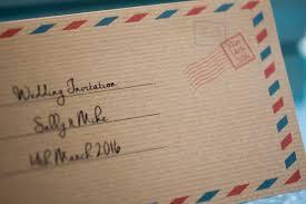 red u0026 blue airmail travel ticket wedding invitation vintage