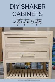 diy kitchen cabinets kreg how to make shaker cabinet doors with kreg jig crafted by
