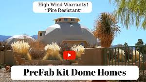 Dome Home by Prefab Panelized Dome Home Kit Youtube