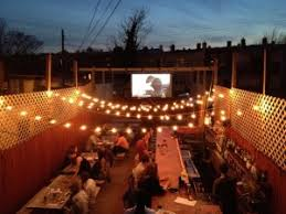 Backyard Movie Night Projector Outdoor Projectors Trenton Business