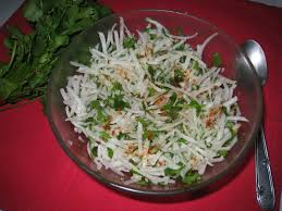 comment cuisiner du radis noir salade indienne de radis noir indian salad with black radish age