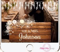 rustic shabby chic wedding snapchat geofilter