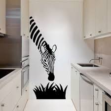 compare prices on wall mural decor online shopping buy low price zebra wall decals modern art decoration for your kitchen bedroom or livingroom zebra wall stickers