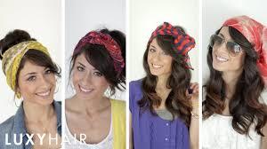 four ways to wear head scarves youtube