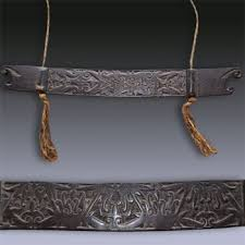 tribal art antique art from borneo baby swing hammock holder