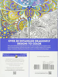creative haven entangled dragonflies coloring book coloring