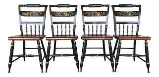 Maple Chairs L Hitchcock Maple Harvest Farmhouse Chairs Set Of 4 Chairish