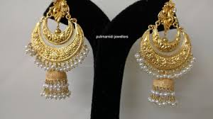 earrings gold design new fashion gold earrings designs collections inside
