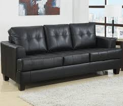 brooklyn black leather couch top grain leather upholstery solid