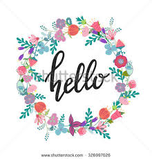 Flowers Designs For Drawing Hand Drawn Flowers Wreath Cute Colorful Stock Vector 326997026