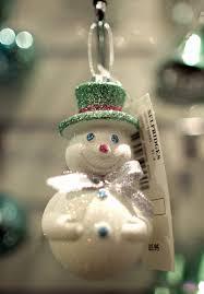 snowman tree ornaments lights decoration