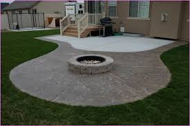 Small Patio Fire Pit Concrete Patio Designs With Fire Pit 1071