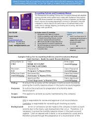 bizmanualz accounting policies and procedures sample debits and