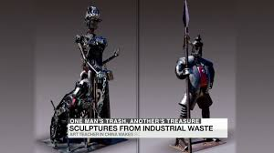 from industrial waste to art sculpture youtube