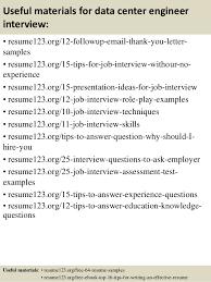 top 8 data center engineer resume samples