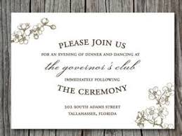 Wedding Reception Cards Template Sample Wedding Invitation Reception Card Modern Style