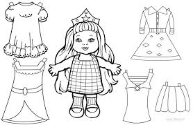 trend paper doll coloring pages 27 coloring kids paper