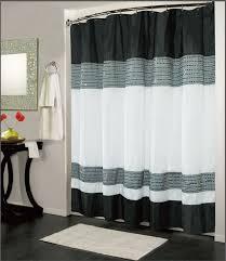 White Black Curtains Modern Contemporary Shower Curtains All Contemporary Design