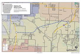 Washington Highway Map by Highway 412 Benton County Connecting Arkansas Program